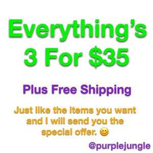 3 For $35 Sale